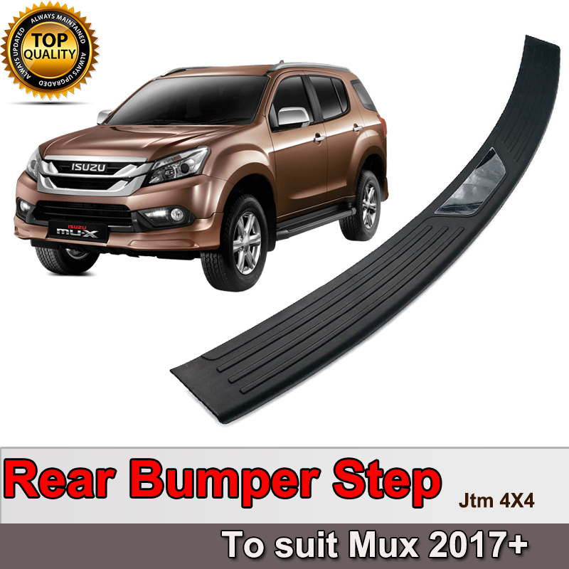 Rear Bumper Step Protector Scuff Plate Guard Plate to suit Isuzu Mux MU-X 2017+