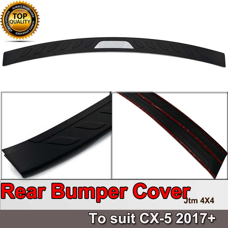 Rear Bumper Step Protector Scuff Plate Guard Plate to suit Mazda CX5 CX-5 2017+