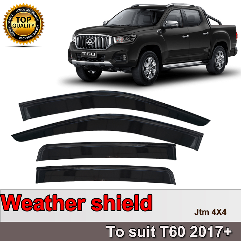 Quality Weather Shields Weathershields Window Visors for LDV T60 2017-2019