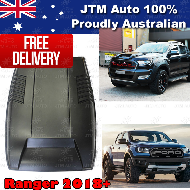Matt Black Bonnet Scoop Hood Raptor Style to suit Ford Ranger PX3 T8 2018-2019
