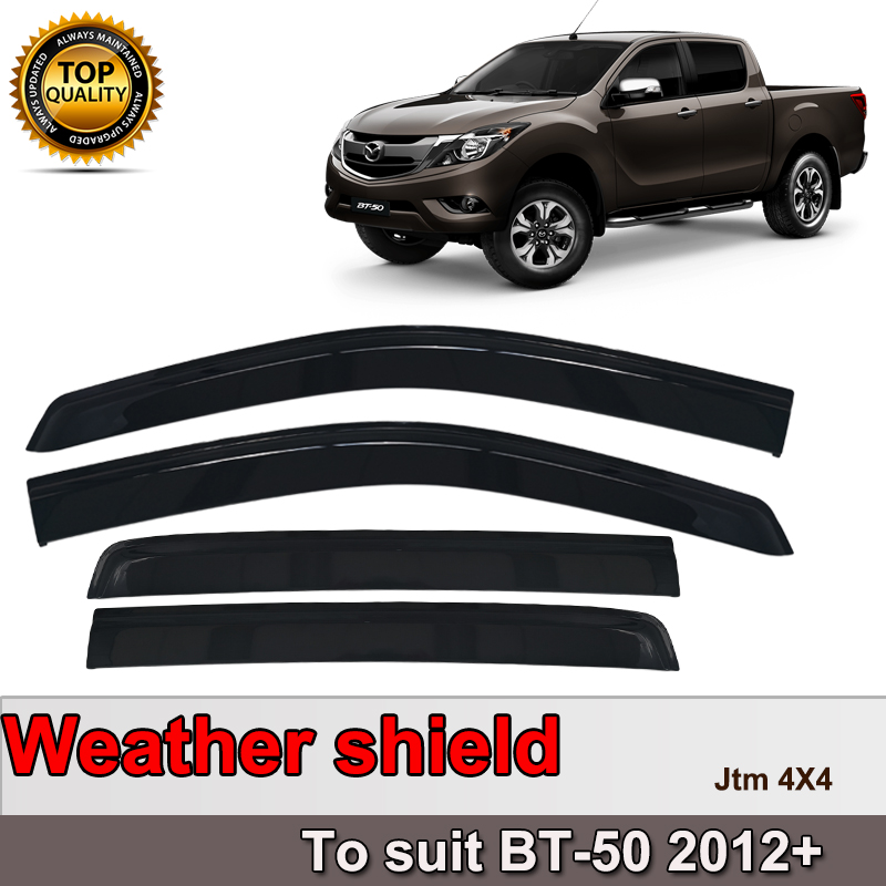 Premium Weather Shields Window Visor Weathershields for Mazda BT50 BT-50 12-19