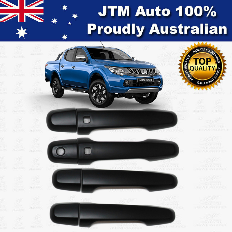 MATT Black Door Handle Cover Protector For Mitsubishi Triton DK2014-2019