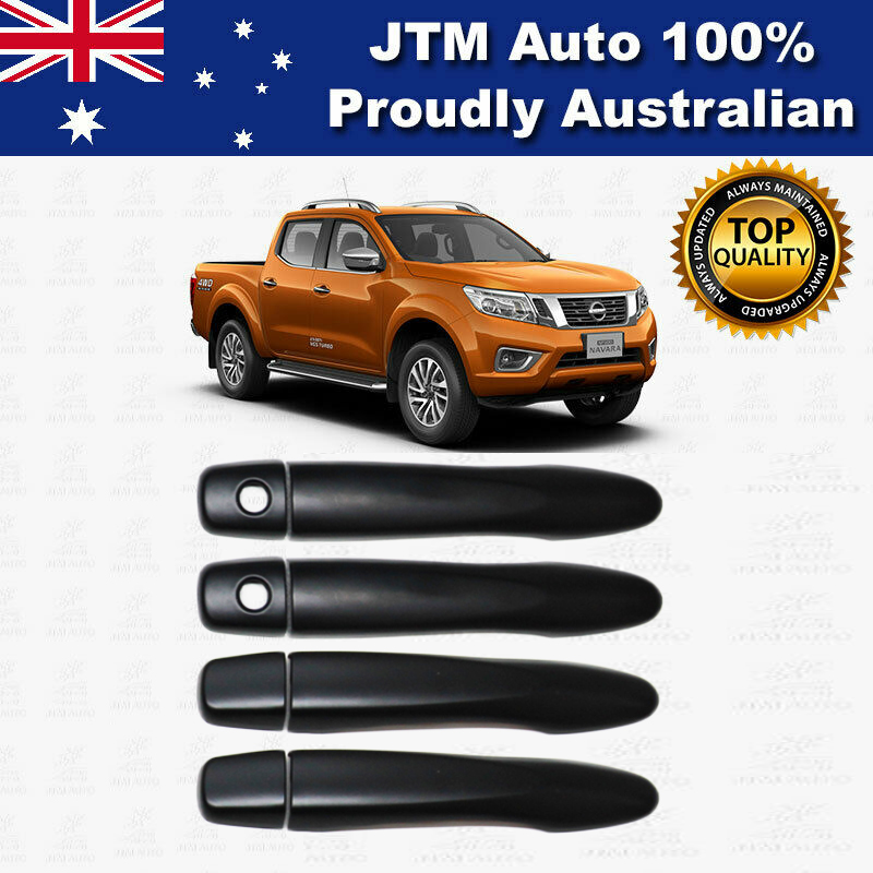 MATT Black Door Handle Cover Protector For Nissan Navara NP300 D23 2014-2019