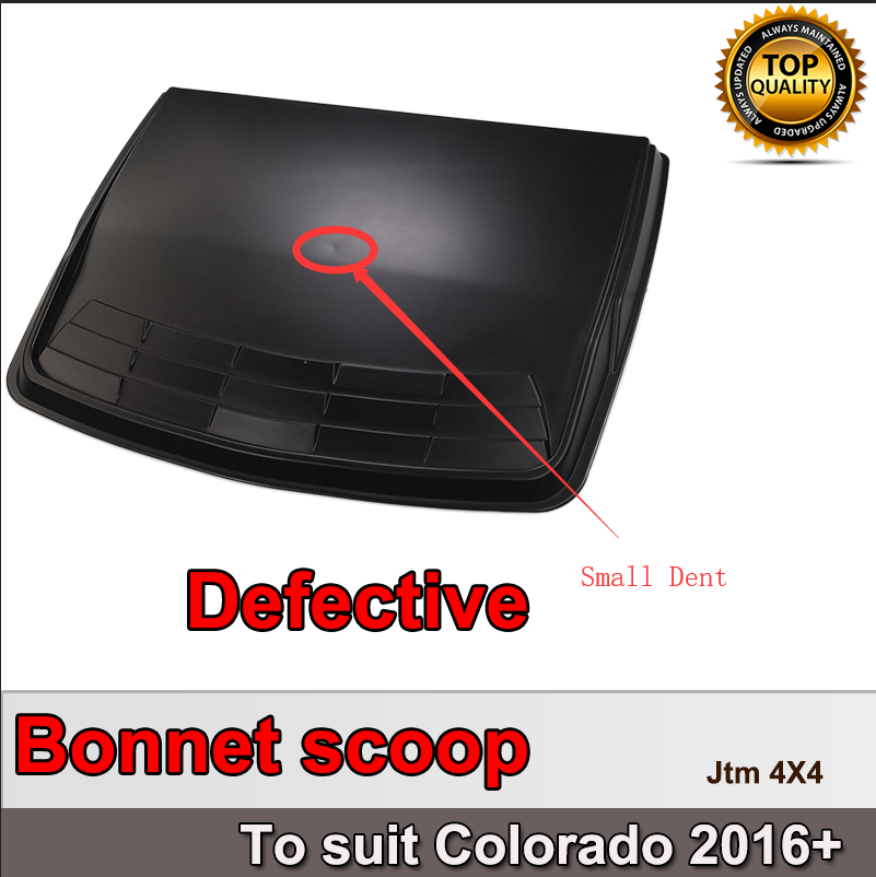 OEM Matt Black Bonnet Scoop Hood Cover to suit Holden Colorado 2016+ DEFECTIVE