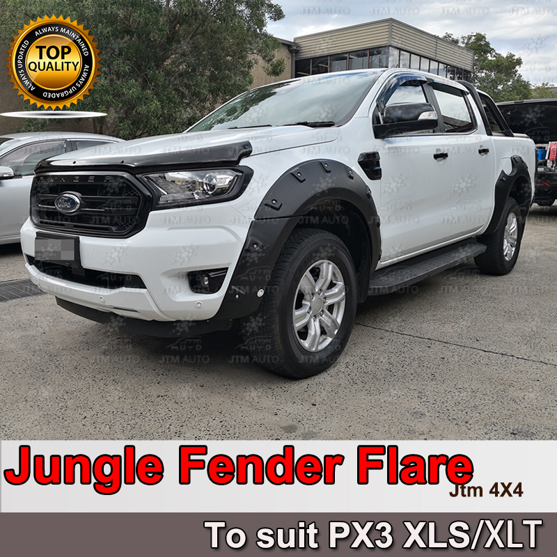 Jungle Black Fender Flares Wheel Arch to suit Ford Ranger PX3 XLS/XLT 2018-2019