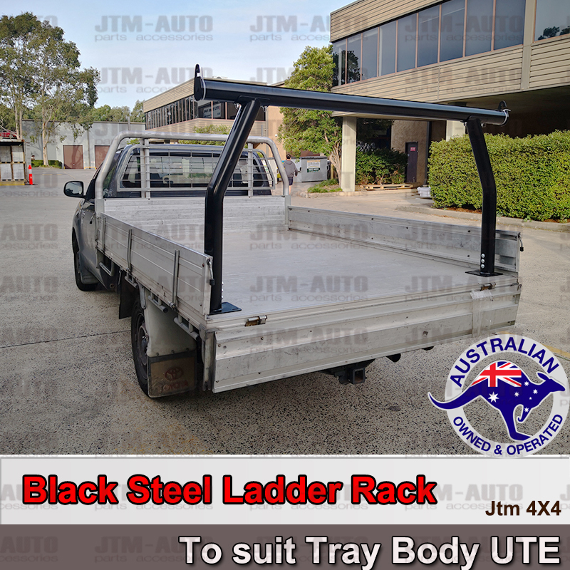 Universal Black Steel Ladder Rack Roll Bar fits Ute Aluminium Alloy Trays Body