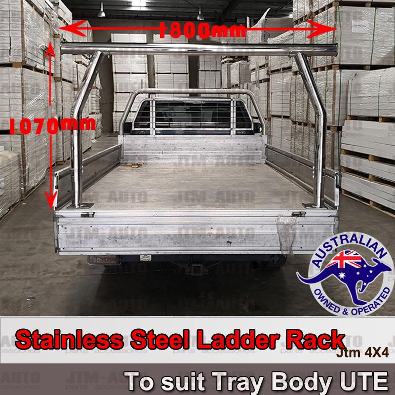 Universal Stainless Steel Ladder Rack Roll Bar fits Ute Aluminium Alloy Trays Body