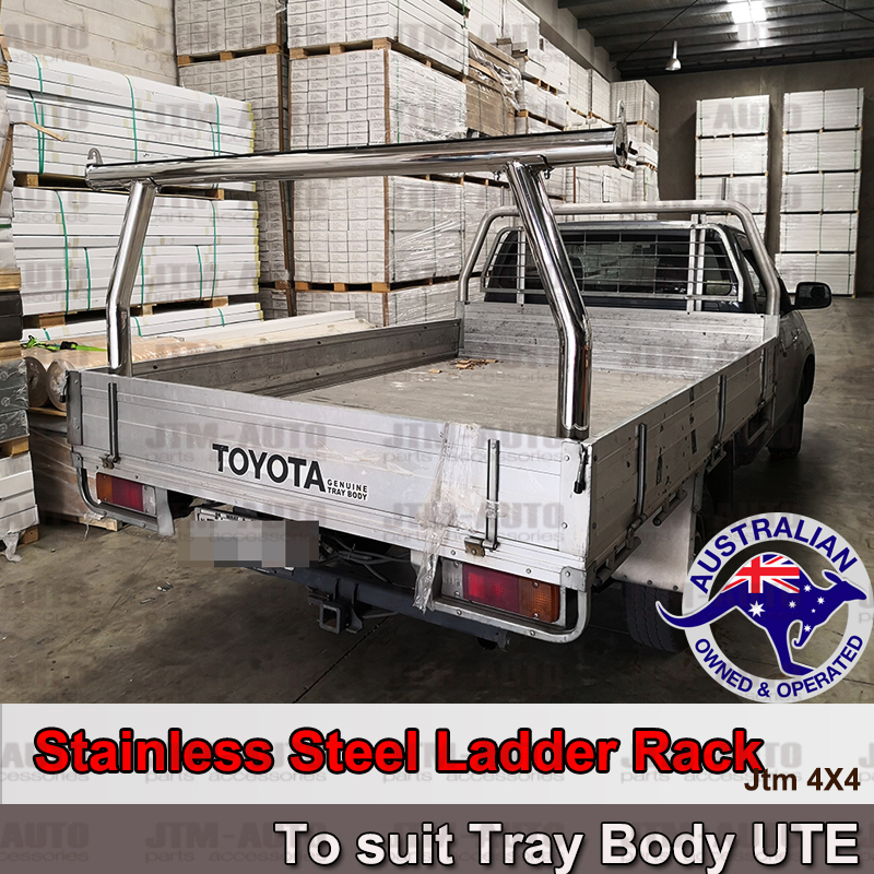 Universal Stainless Steel Ladder Rack Roll Bar fits Ute Aluminium Alloy Trays Body