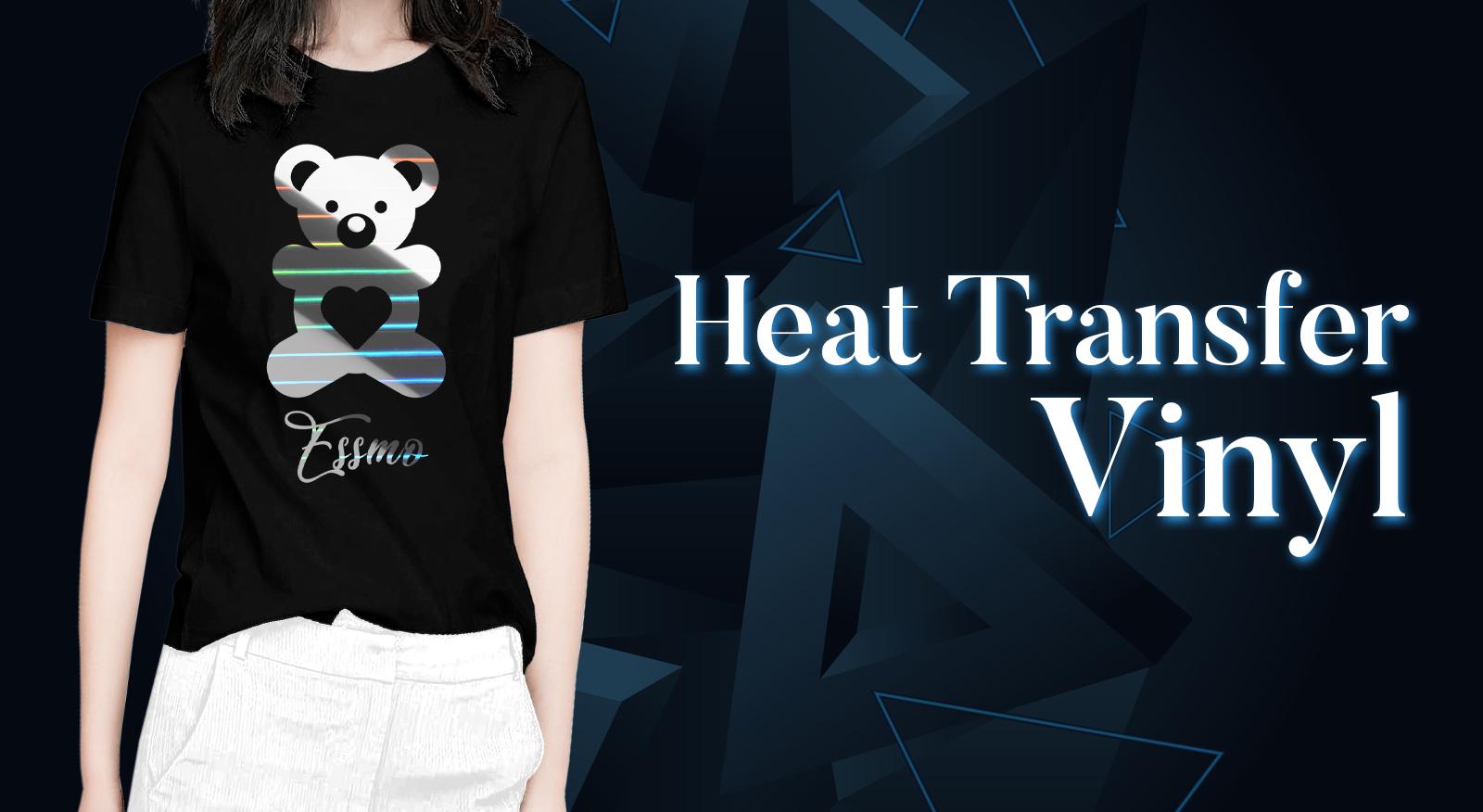 ESSMO\u2122 Matte Solid Heat Transfer Vinyl HTV Easy To Weed Sheet Roll T-Shirt 20 Wide Iron On Heat Press