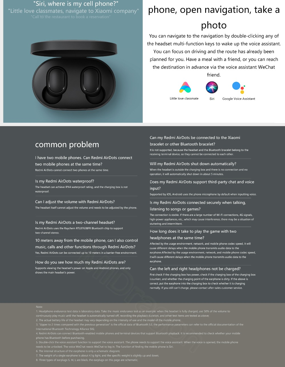 Redmi AirDots True Wireless Bluetooth 5 0 Earphones