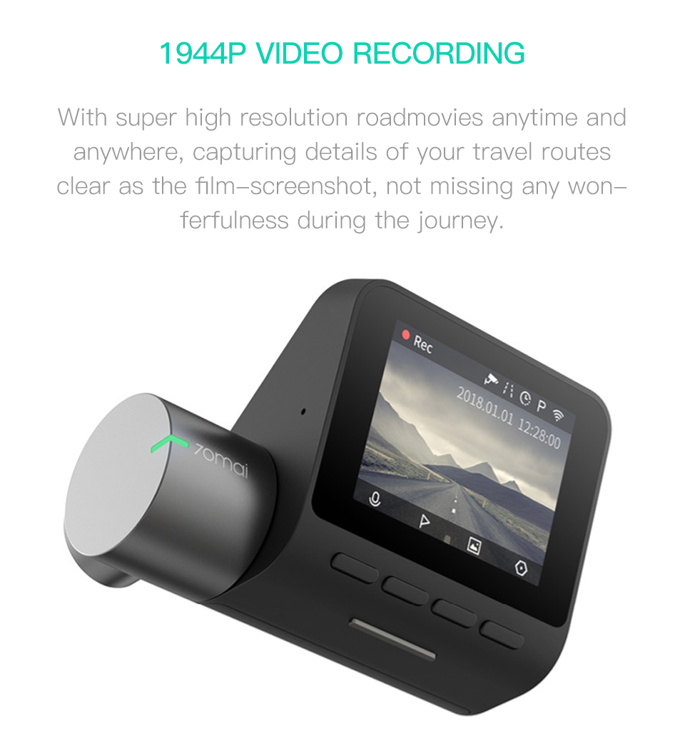 Xiaomi 70mai Pro Dash Cam with Voice Control