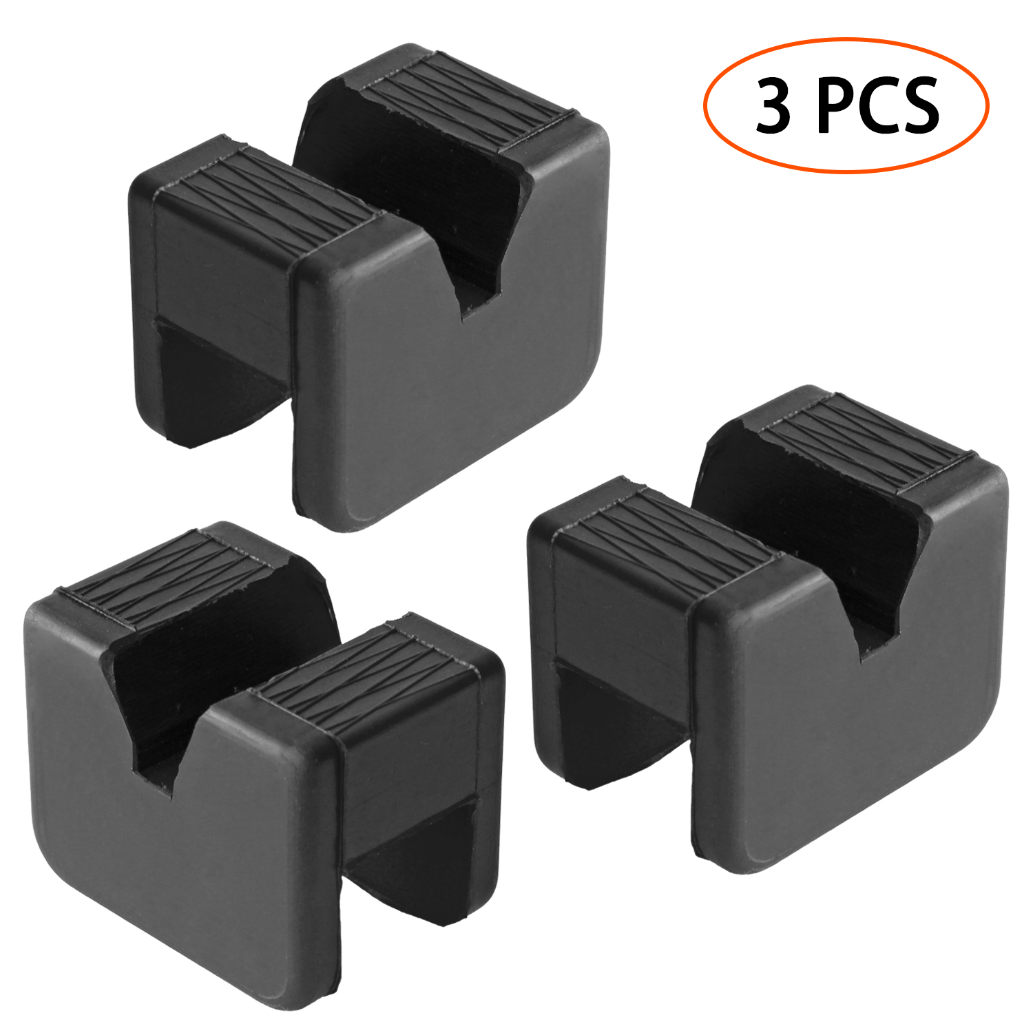4 Pack Jack Pad Adapter for High Lift Steel Jack Stand 2-3 Ton Universal Rubber Slotted Frame Rail Pinch Weld Protector Car Jack Stand Pad