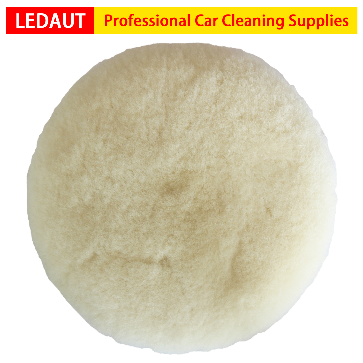 7 Inch Wool Buffing Pad Car Detailing Polishing Backing Buffer 1PC