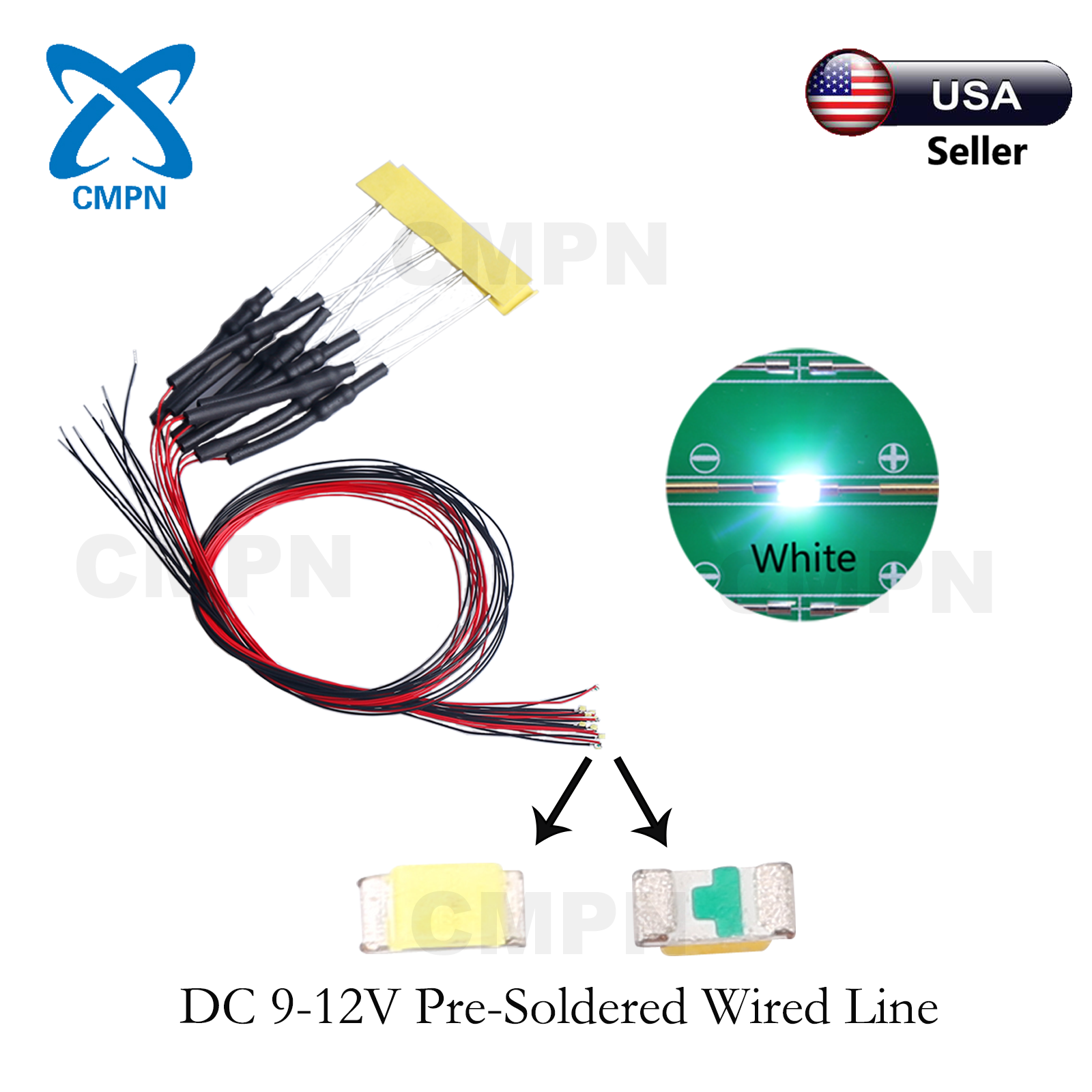 10Pcs 3mm Pre-Wired DC 9-12v Red Round Top Diffused Light Lamp LED Diodes USA