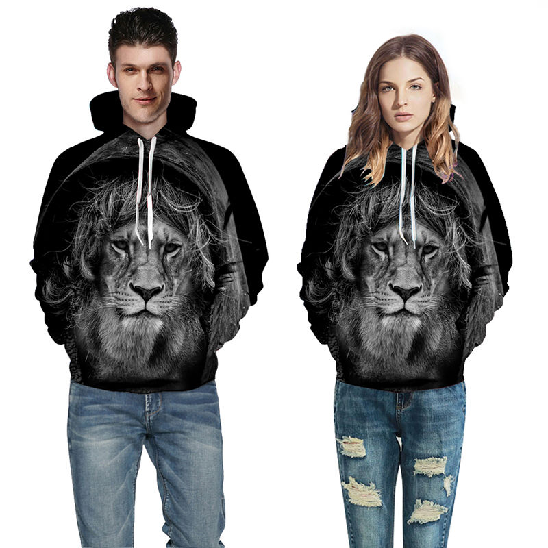 e505dc5830ce Galaxy Wolf Lion 3D Print Hoodie Unisex Sweatshirt Hoody Pullover Jacket  Coat