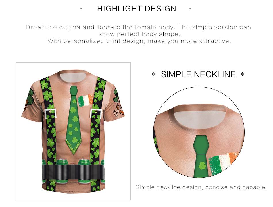 Details about Funny Irish St Patricks Day T-Shirt Women Men Print Shirt  Loose Short Sleeve Tee