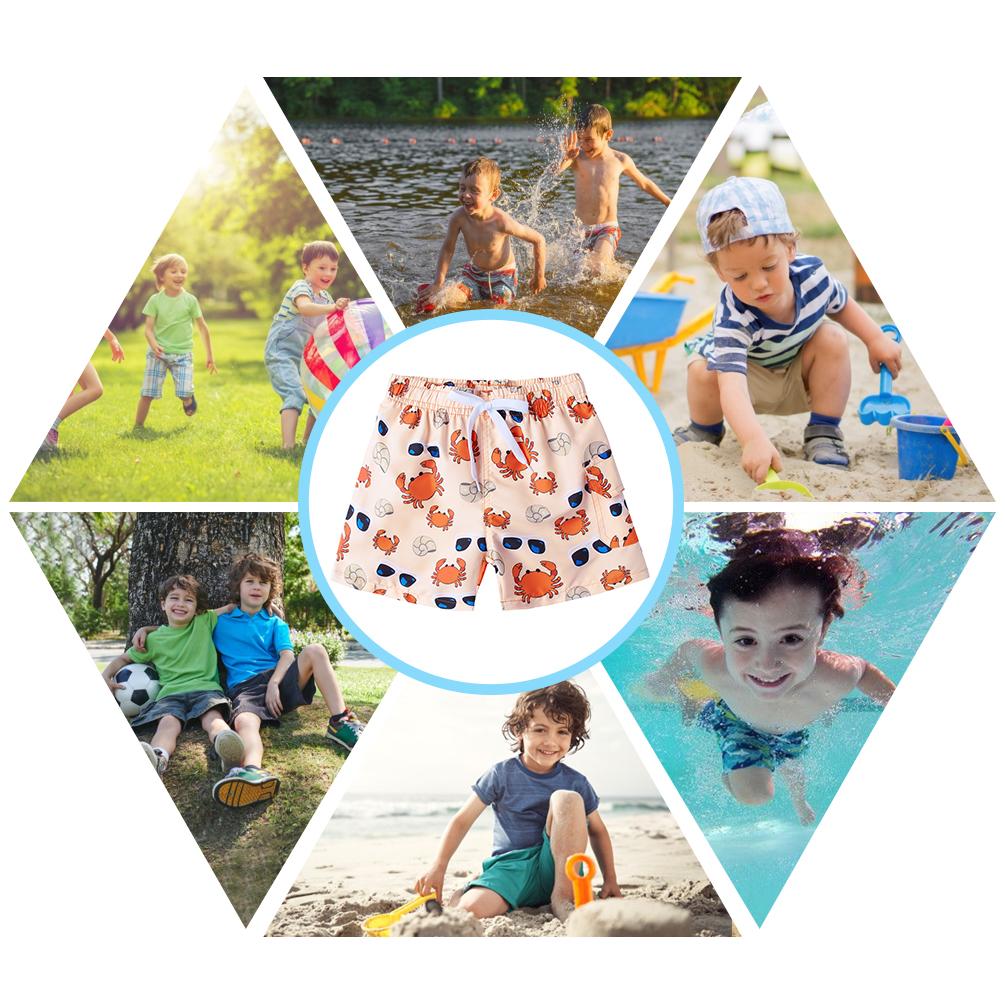 Kids Boys Quick Dry Animals Print Swim Trunk BoardShorts Swim Surfing Beach Wear