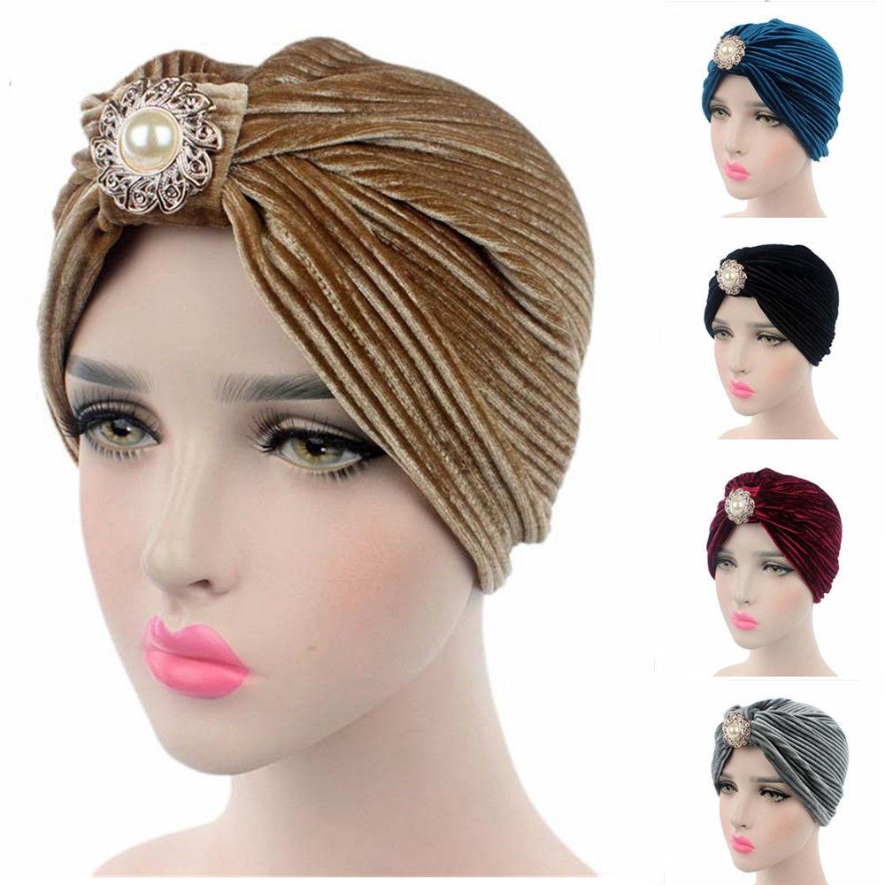 Details about Indian Muslim Women Headwear Turban Hats Chemo Cap Headscarf  Islamic Arab Wrap 9916e665935