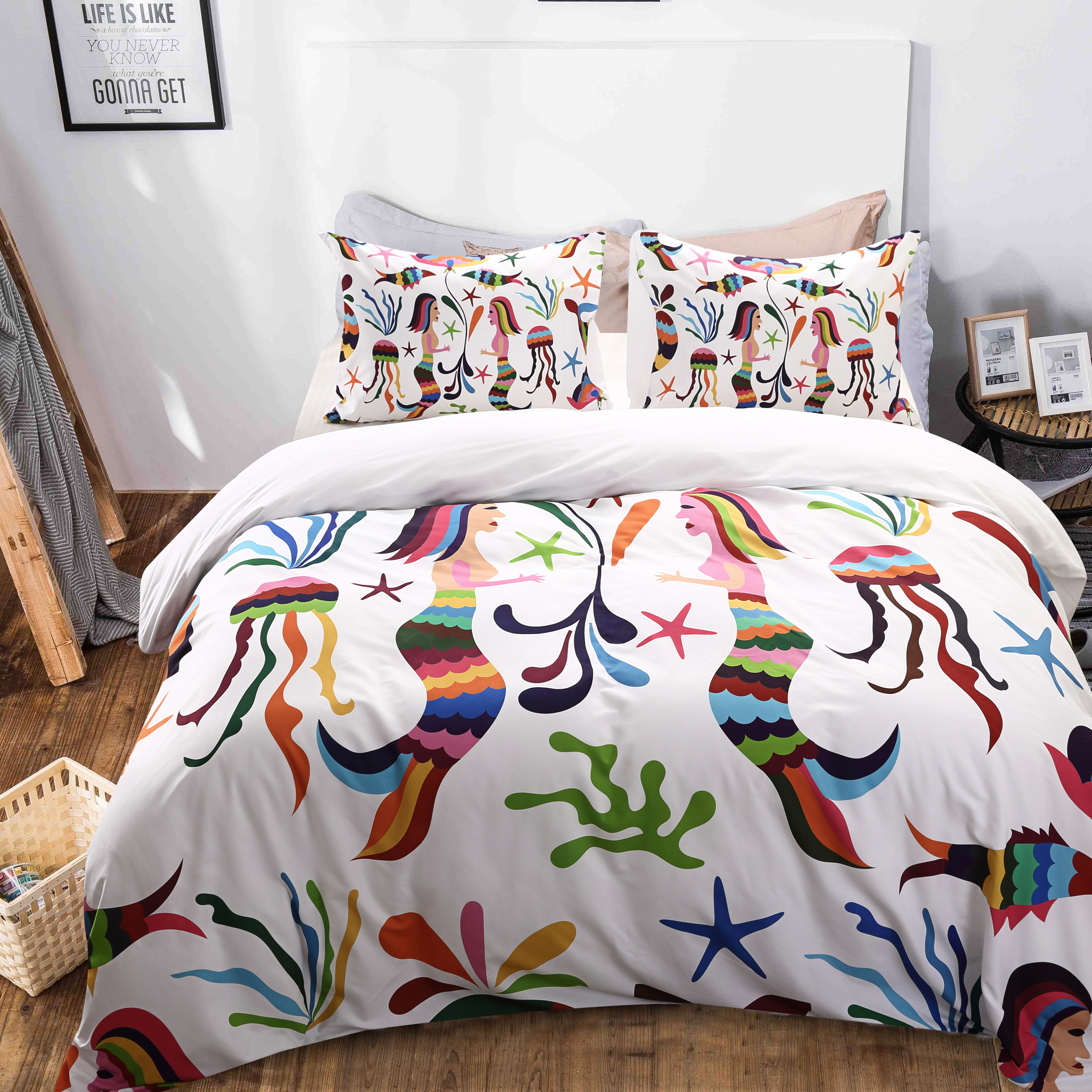Set Twin Queen King Size Mermaid Duvet Cover Quilt Cover