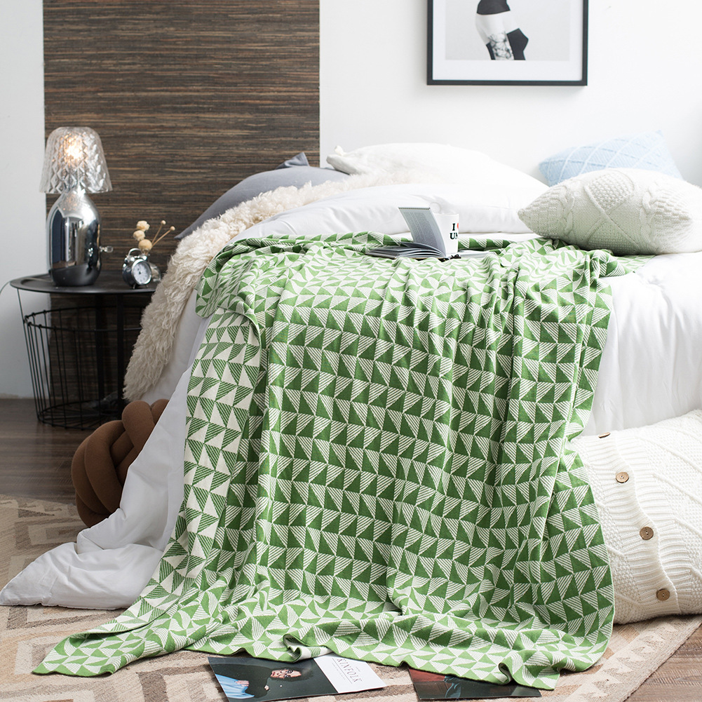Details About 130 180cm Home Knitted Blanket Throw Soft Warm Sofa Bed Office Room Blankets New
