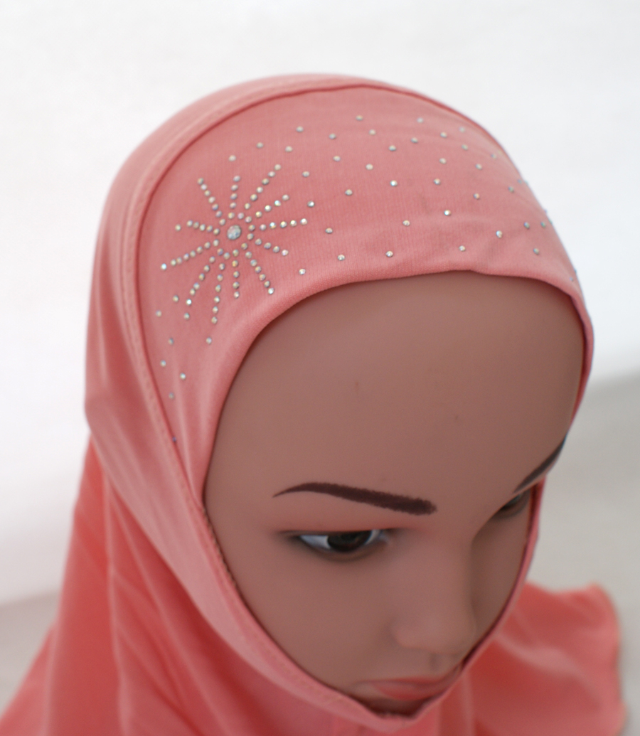 Girls-Kids-Muslim-Hijab-Hats-Islamic-Arab-Scarf-Caps-Shawls-Amira-Headwear-3-8Y thumbnail 70