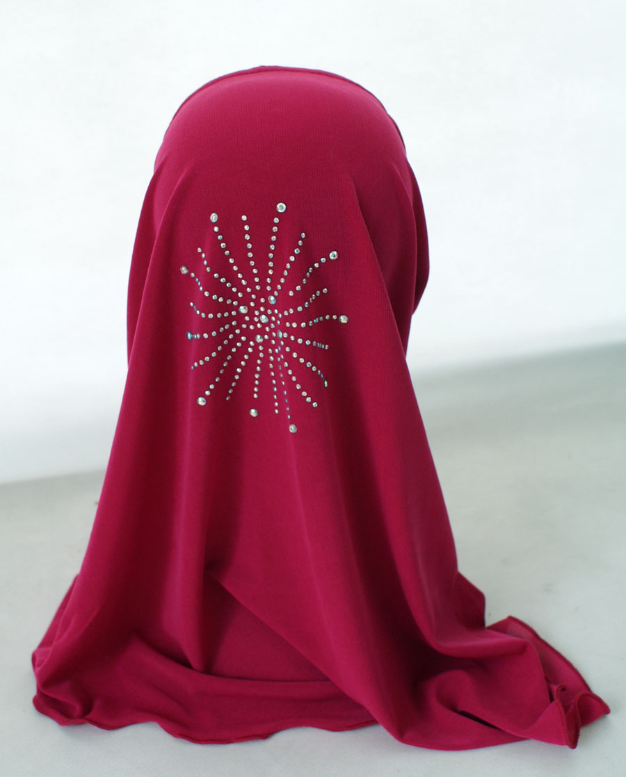 Girls-Kids-Muslim-Hijab-Hats-Islamic-Arab-Scarf-Caps-Shawls-Amira-Headwear-3-8Y thumbnail 62