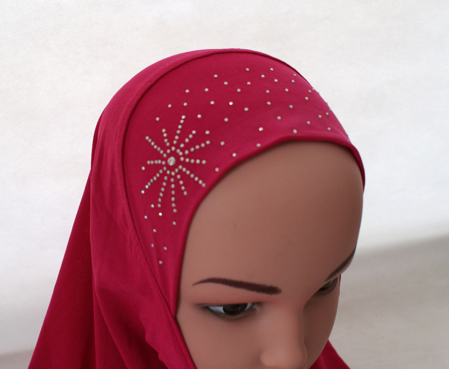 Girls-Kids-Muslim-Hijab-Hats-Islamic-Arab-Scarf-Caps-Shawls-Amira-Headwear-3-8Y thumbnail 63