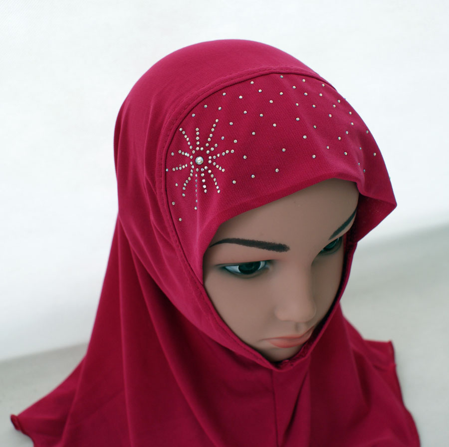 Girls-Kids-Muslim-Hijab-Hats-Islamic-Arab-Scarf-Caps-Shawls-Amira-Headwear-3-8Y thumbnail 61