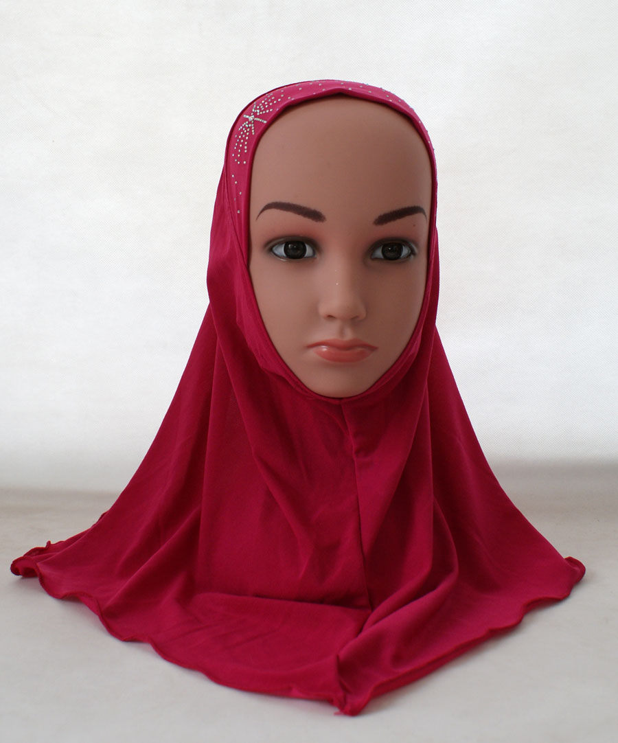 Girls-Kids-Muslim-Hijab-Hats-Islamic-Arab-Scarf-Caps-Shawls-Amira-Headwear-3-8Y thumbnail 65
