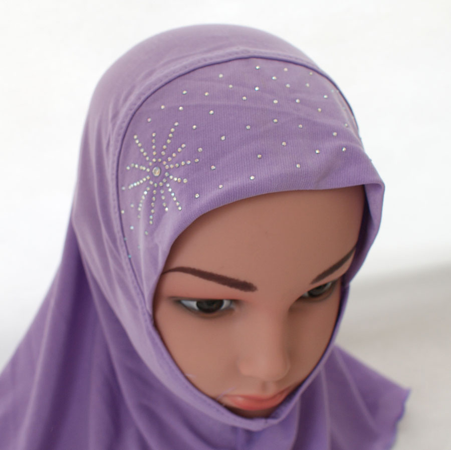 Girls-Kids-Muslim-Hijab-Hats-Islamic-Arab-Scarf-Caps-Shawls-Amira-Headwear-3-8Y thumbnail 67