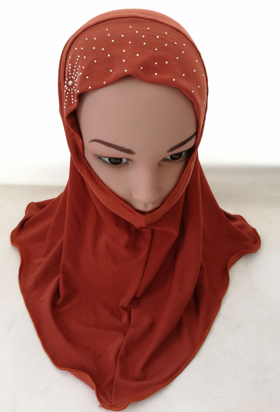 Girls-Kids-Muslim-Hijab-Hats-Islamic-Arab-Scarf-Caps-Shawls-Amira-Headwear-3-8Y thumbnail 80
