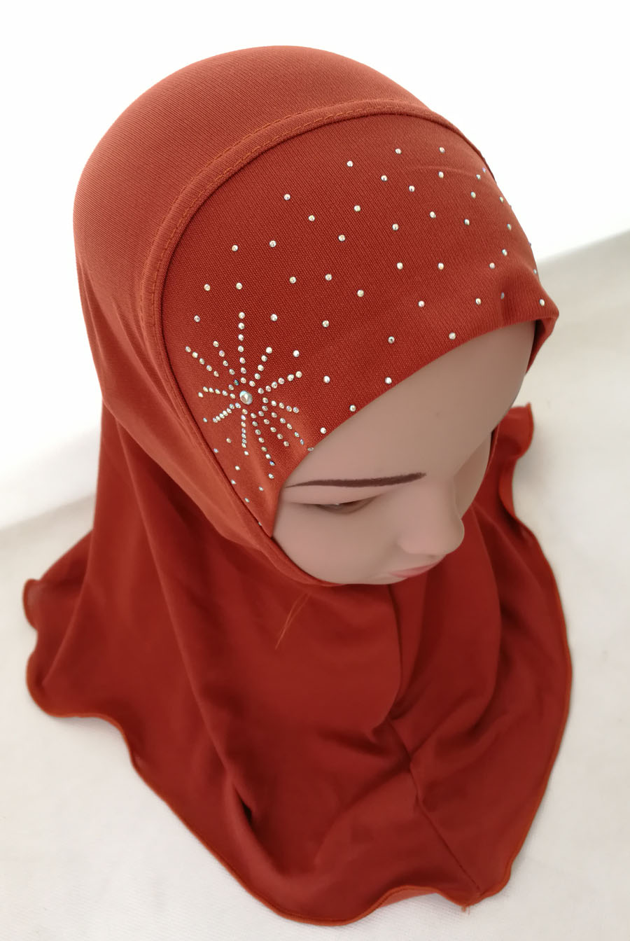 Girls-Kids-Muslim-Hijab-Hats-Islamic-Arab-Scarf-Caps-Shawls-Amira-Headwear-3-8Y thumbnail 81
