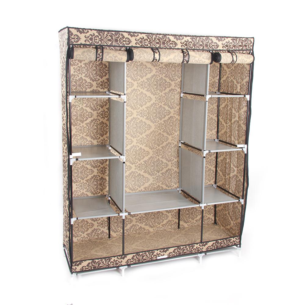 Details About Organizer Shelf Portable Clothes Storage Closet Wardrobe Cloth Rack Shelves