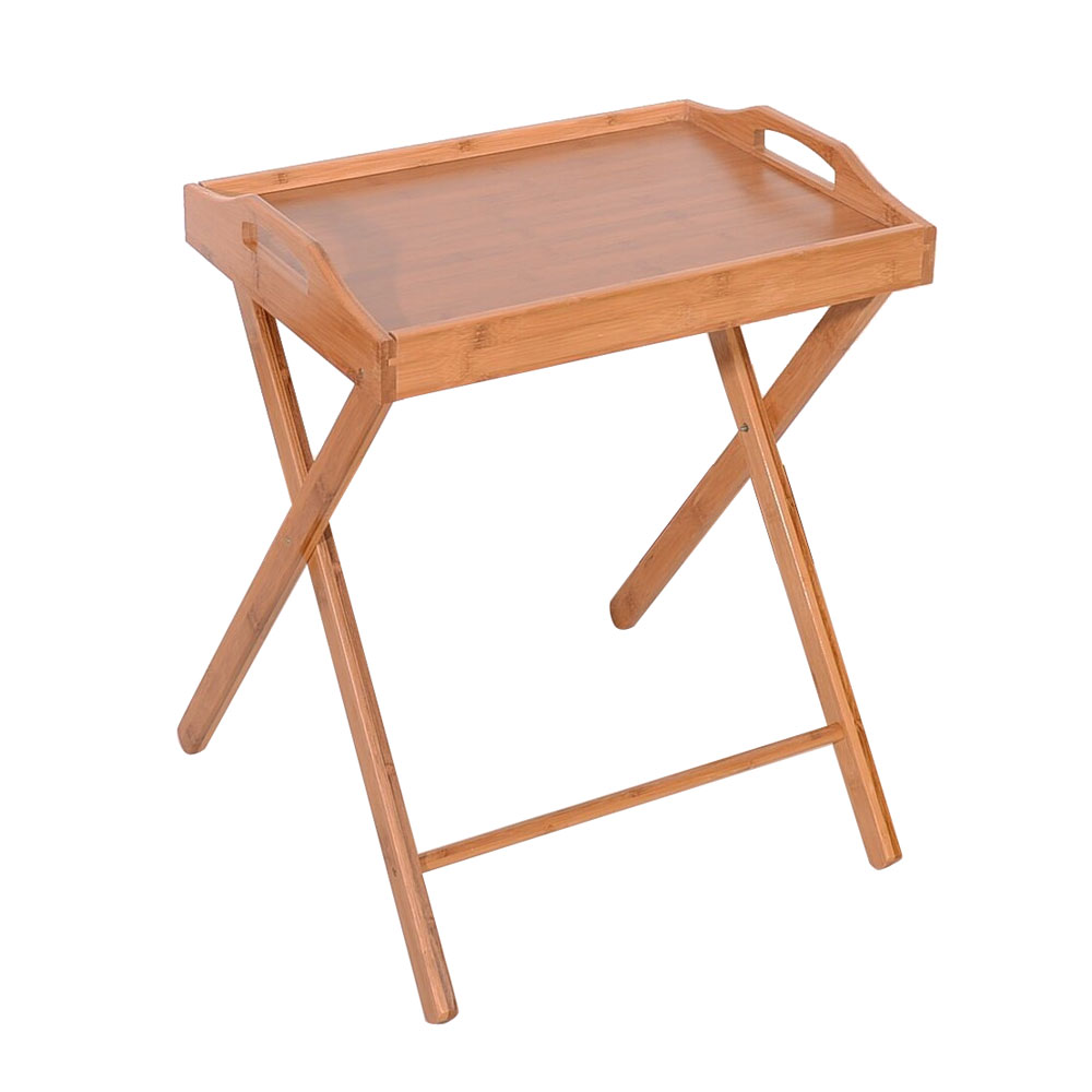 Portable Tv Dinner Folding Timber Snack Table Stand Eat Coffee