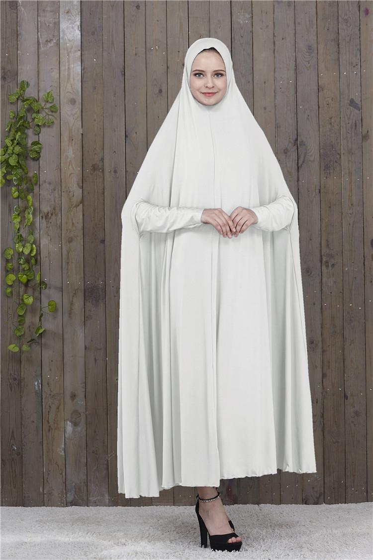Muslim Women Overhead Jilbab Long Hijab Abaya Khimar Scarf Arab Prayer Dresses