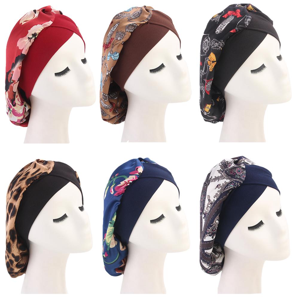 Animal Print Chemo Beanie Hat Leopard Turban Head Scarf Sleep Cap Chemo Headwear for Women