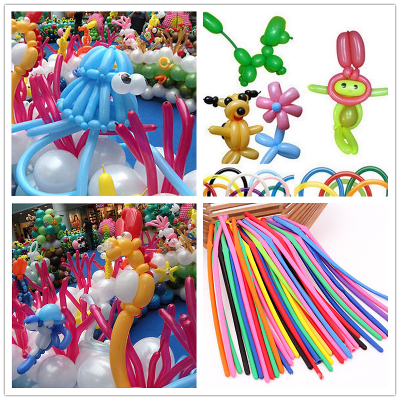 Pack Of PARTY BALLOONS MIXED COLOURS 260q Traditional For Modelling Magic 100 x