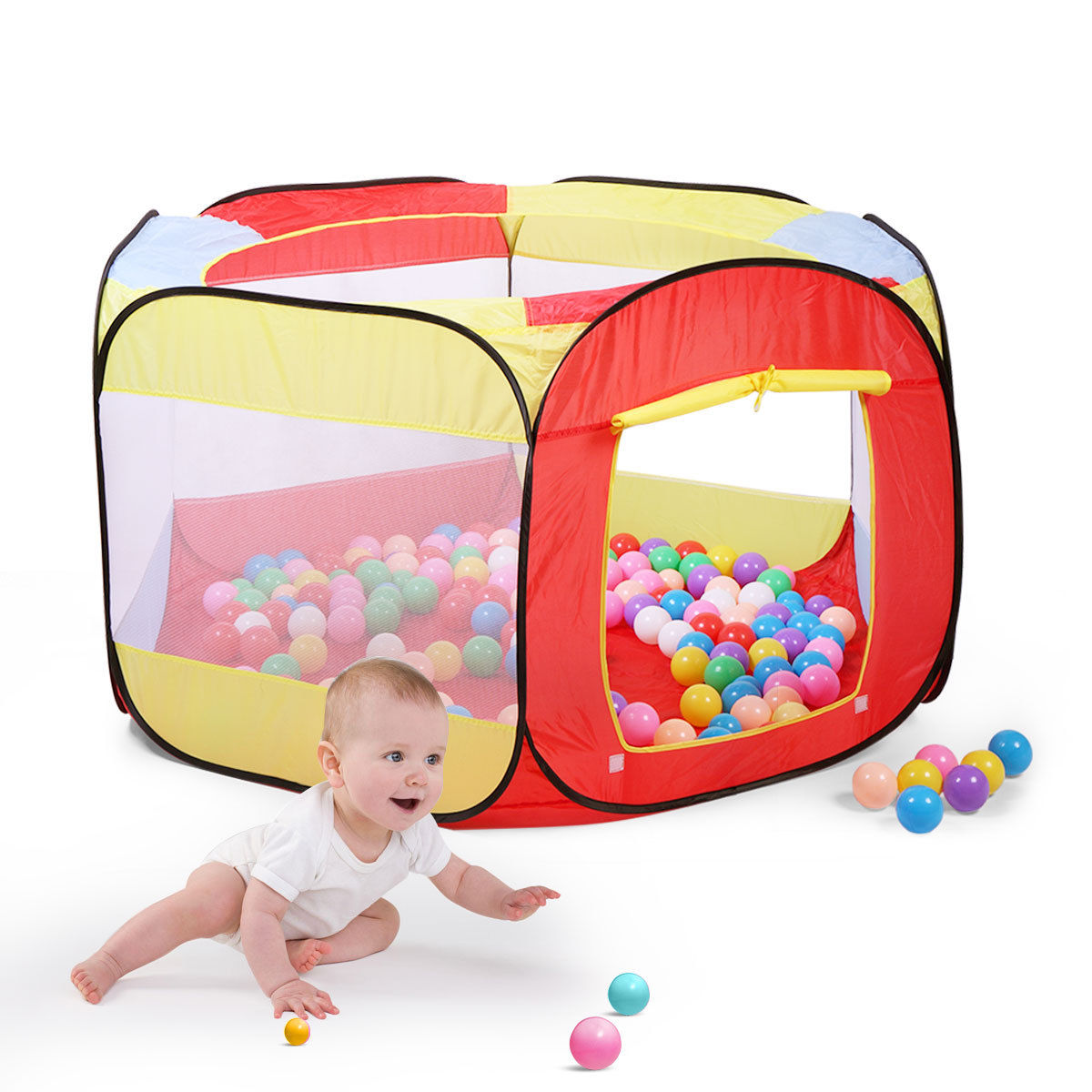 Folding Portable Playpen Baby Play Yard With Travel Bag Indoor Outdoor Safety