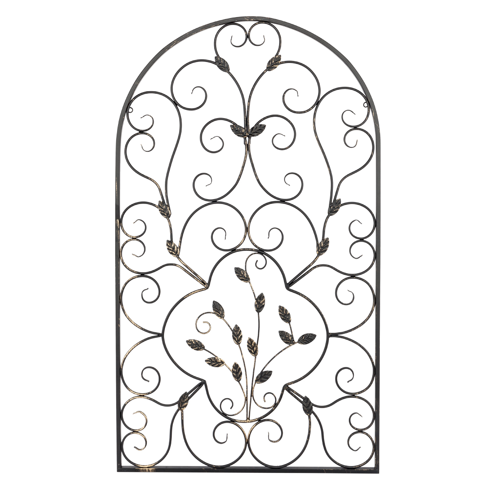 a9a7b4ff67 Details about Arched Wrought Iron Wall Art Sculpture Vintage Tuscan Indoor  Garden Gate Decor