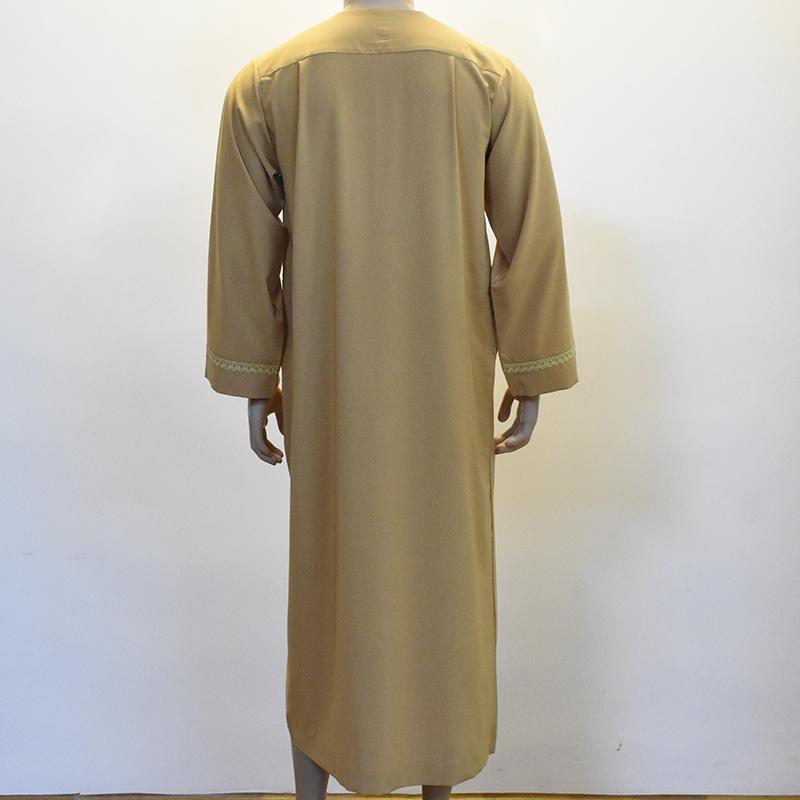 Muslim Mens Abaya Arab Saudi Kaftan Thobe Robe Jubah Long Dress