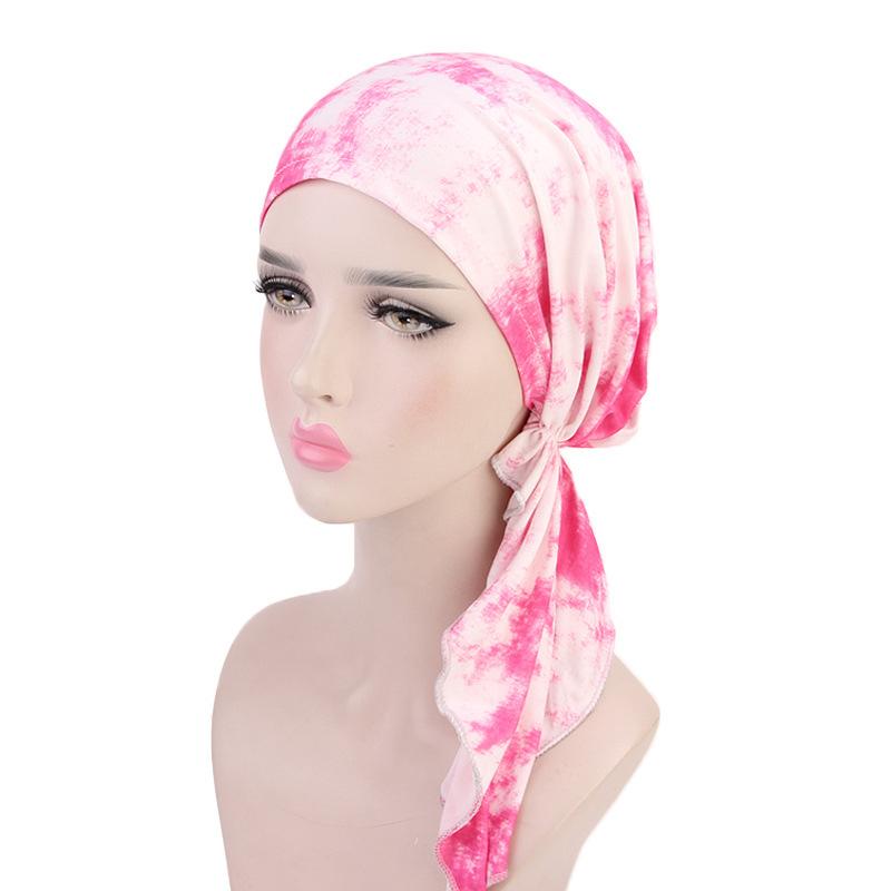 dcd86504c24 Fashion Women Muslim Ruffle Cancer Chemo Hat Beanie Scarf Turban Head Wrap  Cap