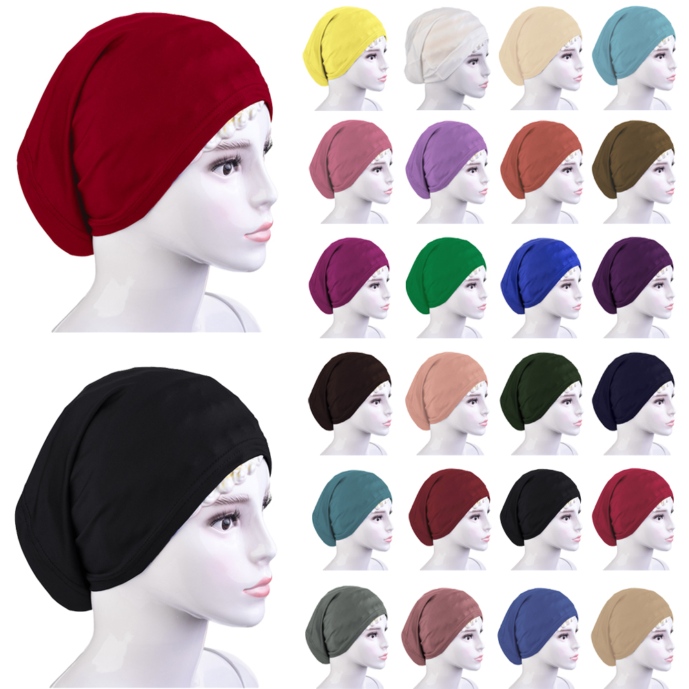 f553a4656ee Details about Muslim Women Islamic Under Scarf Hijab Bonnet Inner Cap  Headwear Wrap Hat Turban