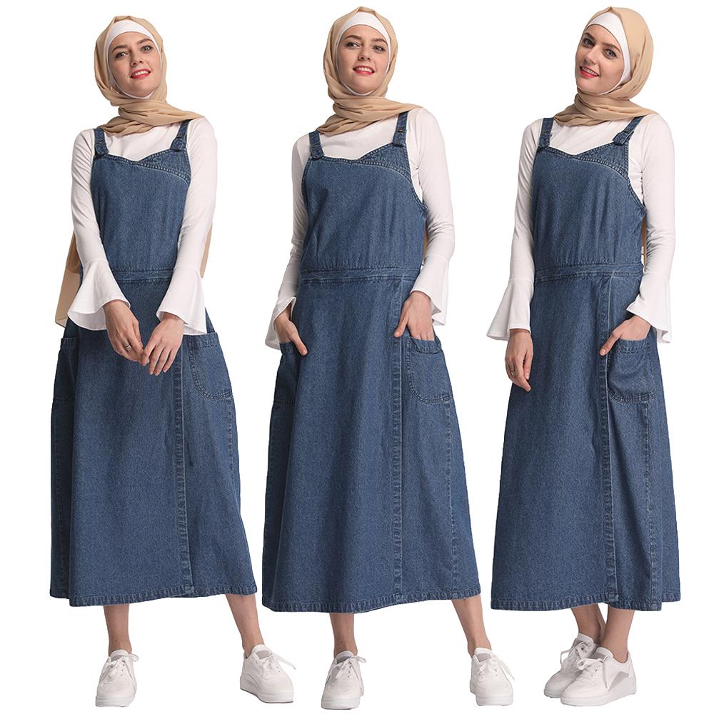 Details about Women Denim Loose Maxi Pinafore Dungaree Dress Long Jean  Strap Dresses Plus Size