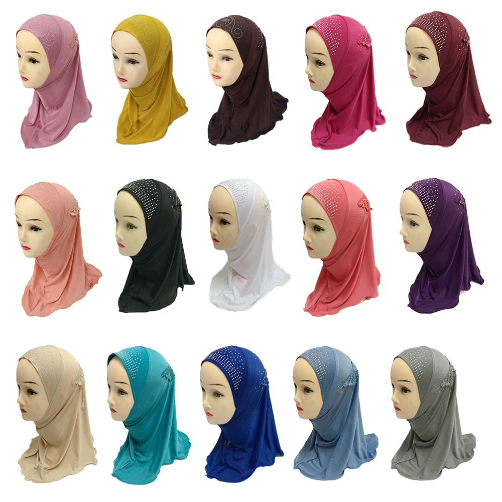 Muslim Girls Head Coverings Tube Scarf Hijab Hat Islam