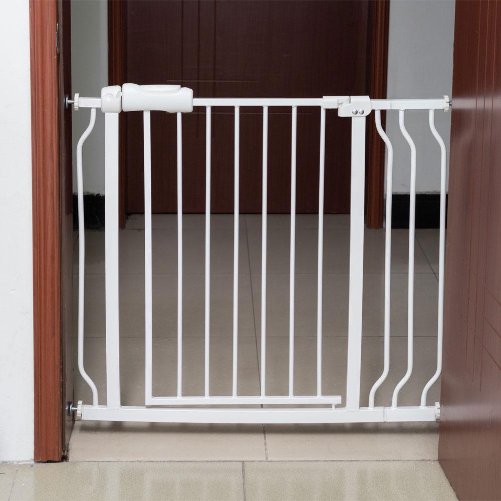 Advanta Baby Gate Kids Children Safety Security Pressure Mounted White 28 Inch
