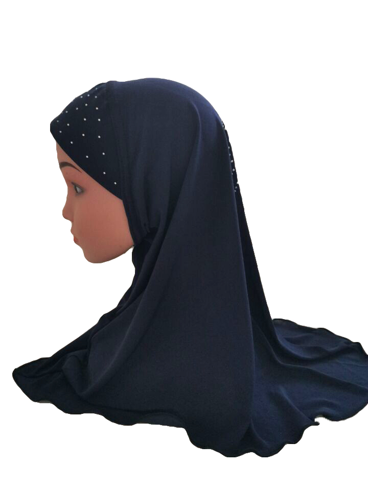 Girls-Kids-Muslim-Hijab-Hats-Islamic-Arab-Scarf-Caps-Shawls-Amira-Headwear-3-8Y thumbnail 88
