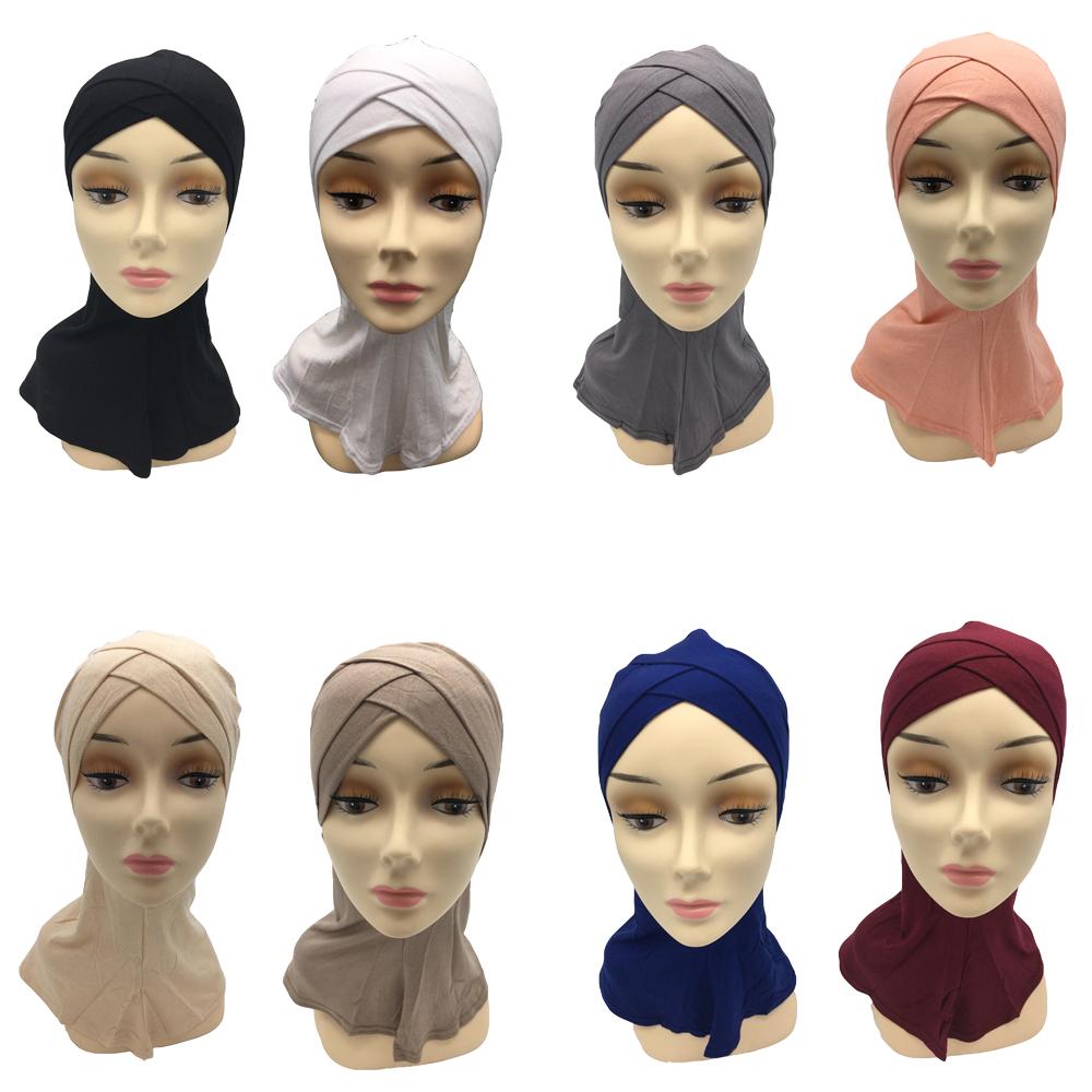 Muslim Women Hijab Hat Islamic Scarf BONE CAP Underscarf Headwrap Arab Hijab Cap
