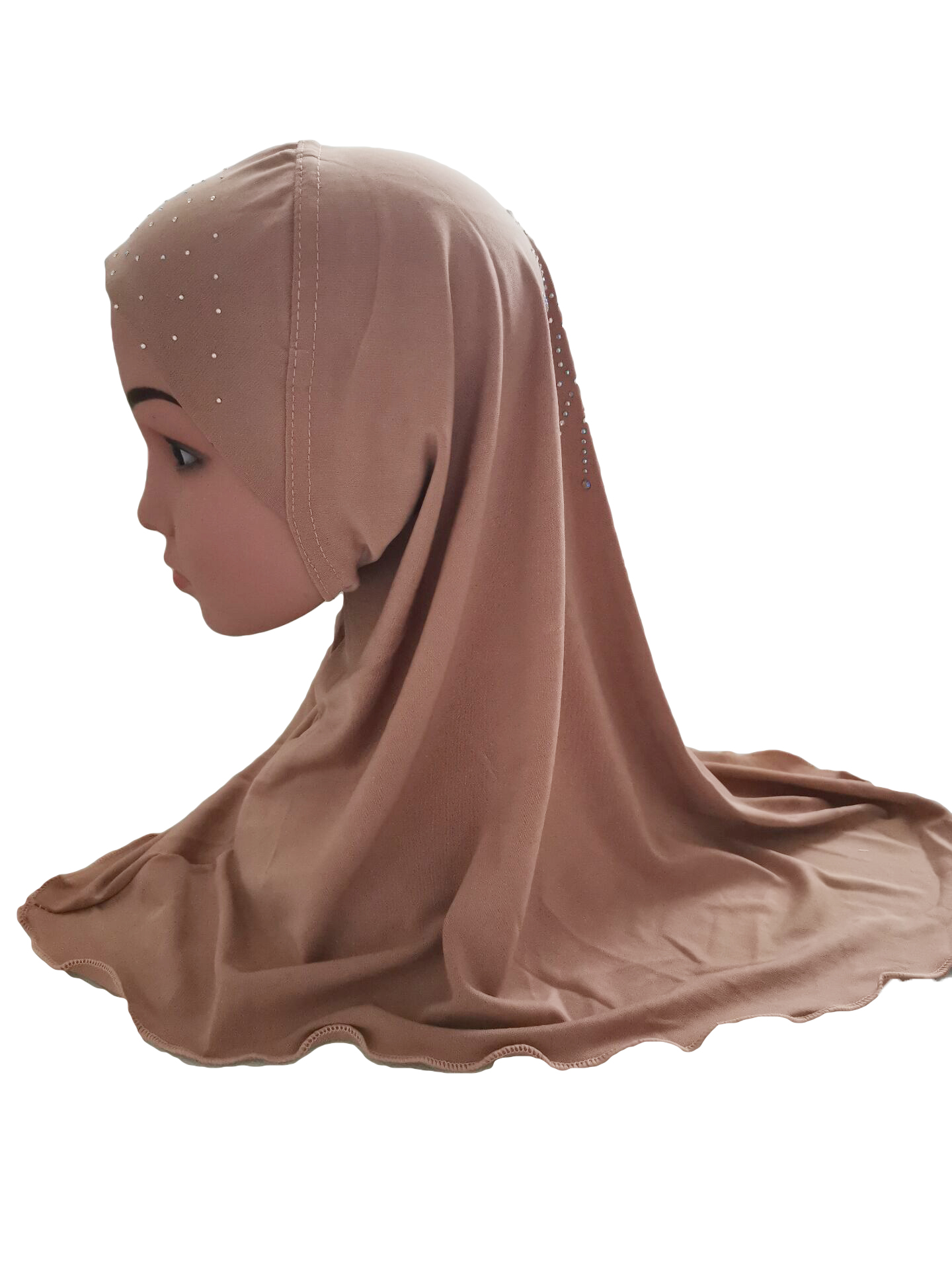 Girls-Kids-Muslim-Hijab-Hats-Islamic-Arab-Scarf-Caps-Shawls-Amira-Headwear-3-8Y thumbnail 92