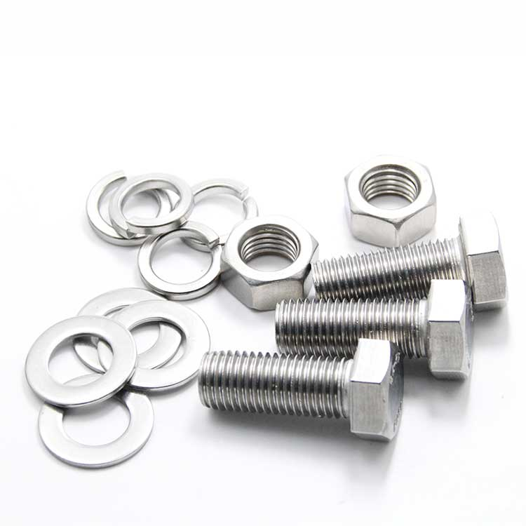 Bolt And Washer >> Details About M12 M14 M16 Stainless Steel Hexagon Head Screws Bolt Hex Nut Flat Spring Washers