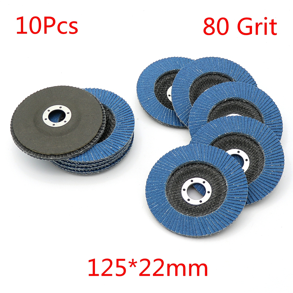 10 PC 4.5/'/'x7//8/'/' 120 GRIT Premium Zirconia Flap Disc Grinding Wheel Sandpaper